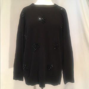 Kate Spade Black sweater with flower embellishment